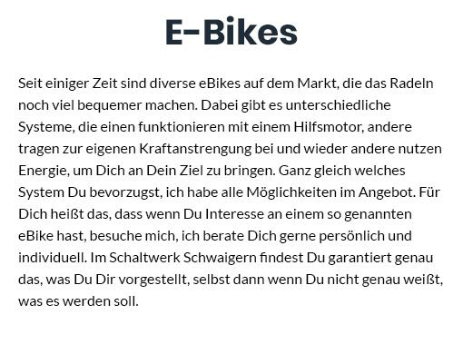 e-bike in  Mühlacker